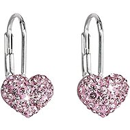 Swarovski Elements Rose 31125.3 (925/1000, 1.4 g) - Earrings