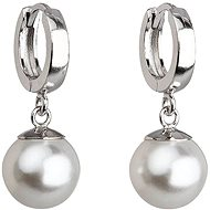 White Pearl Earrings Decorated Swarovski Crystals 31151.1 (925/1000, 4g) - Earrings
