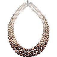 EVOLUTION GROUP Brown perlový náhrdelník 32009.3 (925/1000, 113,2 g) - Náhrdelník