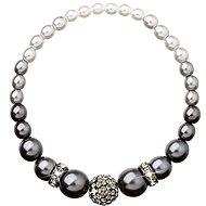 EVOLUTION GROUP Perlový, dekorovaný krystaly Swarovski 33063.1 (925/1000, 1 g, šedý) - Náramek