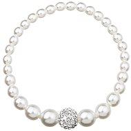 EVOLUTION GROUP Bílý perlový náramek dekorovaný krystaly Swarovski 33063.1 - Náramek