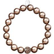 EVOLUTION GROUP Bronze perlový náramek dekorovaný krystaly Swarovski 33074.3 - Náramek