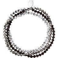 EVOLUTION GROUP Dekorovaný krystaly Swarovski 33081.5 (9 g, Silver) - Náramek