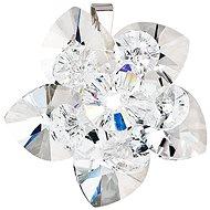 EVOLUTION GROUP Květina dekorovaná krystaly Swarovski 34072.1 (925/1000; 4 g, bílá)