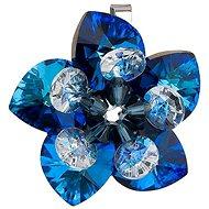 EVOLUTION GROUP Květina dekorovaná krystaly Swarovski 34072.5 (925/1000; 4,2 g, Bermuda blue)