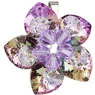 EVOLUTION GROUP Květina dekorovaná krystaly Swarovski 34072.5 (Ag925/1000; 4,4 g, Vitrail light) - Přívěsek