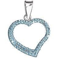 EVOLUTION GROUP Aqua přívěsek srdce dekorovaný krystaly Swarovski 34093.3 (925/1000; 0,7 g) - Přívěsek