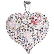 EVOLUTION GROUP Magic rose přívěsek srdce dekorovaný krystaly Swarovski 34181.3 (925/1000; 7,6 g) - Přívěsek