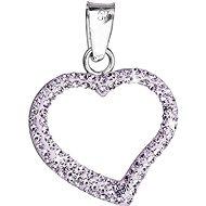 EVOLUTION GROUP Violet přívěsek srdce dekorovaný krystaly Swarovski 34093.3 (925/1000; 6,2 g) - Přívěsek