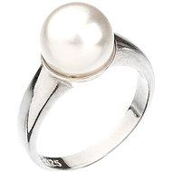 EVOLUTION GROUP Prsten dekorovaný krystaly Swarovski Bílá perla 35022.1 (Ag925/1000; 5,1 g) vel. 54 - Prsten