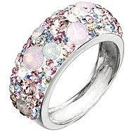 EVOLUTION GROUP Prsten dekorovaný krystaly Swarovski Magic rose 35031.3 (925/1000; 4,1 g) vel. 52 - Prsten
