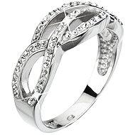 EVOLUTION GROUP Prsten dekorovaný krystaly Swarovski Krystal 35039.1 (925/1000; 3,9 g) vel. 52 - Prsten