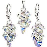 EVOLUTION GROUP Krystal AB souprava dekorovaná krystaly Swarovski (925/1000; 8,8 g) - Dárková sada šperků
