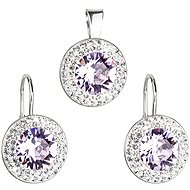 Violet Rivoli Set Decorated With Swarovski Elements Crystals (925/1000; 5g) - Jewellery Gift Set