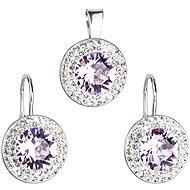 EVOLUTION GROUP 39120.1 bílá perla souprava dekorovaná krystaly Swarovski® (Ag925/1000, 2 g) - Dárková sada šperků