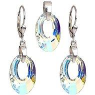 EVOLUTION GROUP Krystal AB souprava dekorovaná krystaly Swarovski (925/1000; 5,7 g) - Dárková sada šperků