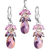 EVOLUTION GROUP Lilac shadow souprava dekorovaná krystaly Swarovski 39123.5 (925/1000; 8,6 g) - Dárková sada šperků