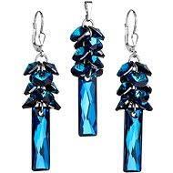 EVOLUTION GROUP Bermuda blue souprava dekorovaná krystaly Swarovski 39124.5 (925/1000; 14,6 g) - Dárková sada šperků
