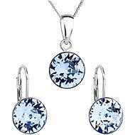 EVOLUTION GROUP Light sapphire souprava dekorovaná krystaly Swarovski 39140.3 (Ag925/1000; 2,6 g) - Dárková sada šperků