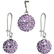 EVOLUTION GROUP Bižuterní set s kamínky 59072.3 Violet - Dárková sada šperků