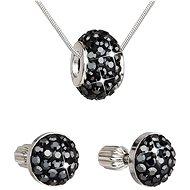 EVOLUTION GROUP Hematite soupravy vyrobené s krystaly Swarovski® 39200.3 - Dárková sada šperků