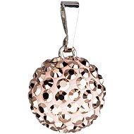 EVOLUTION GROUP Rose gold přívěsek koule dekorovaný krystaly Swarovski 34080.5 (Ag925/1000; 0,1 g)