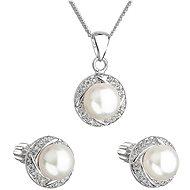 EVOLUTION GROUP 29004.1 stříbrná perlová souprava s řetízkem  (925/1000, 4 g) - Dárková sada šperků