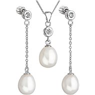 EVOLUTION GROUP 29005.1 silver pearl set with a chain - Jewellery Gift Set
