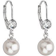 EVOLUTION GROUP 31196.1 bílá perla náušnice dekorované krystaly Swarovski - Náušnice