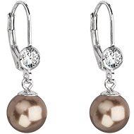 EVOLUTION GROUP 31196.3 broze perla náušnice dekorované krystaly Swarovski - Náušnice