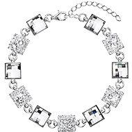 EVOLUTION GROUP Dekorovaný krystaly Swarovski 33047.1  (Ag925/1000, 7 g, bílý) - Náramek
