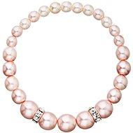 EVOLUTION GROUP 33091.3 rosaline perlový, dekorovaný krystaly Swarovski (925/1000, 16 g, růžový) - Náramek