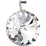 EVOLUTION GROUP 34071.1 kulatý - rivoli dekorovaný krystaly Swarovski (925/1000, 3,8 g, bílý)