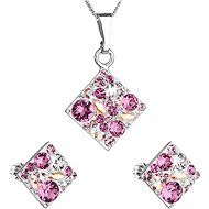 EVOLUTION GROUP 39126.3 rose set decorated with Swarovski crystals - Jewellery Gift Set
