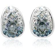 JSB Bijoux Stříbrné náušnice Kreole Ice zdobené křišťálovými kameny Swarovski® (925/1000; 3 g) - Náušnice
