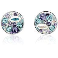 JSB Bijoux Stříbrné náušnice Extramix Purple Swarovski® (925/1000; 1,72 g) - Náušnice