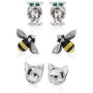 JSB Bijoux Souprava náušniček Animals s křišťálovými kameny Swarovski® - Dárková sada šperků