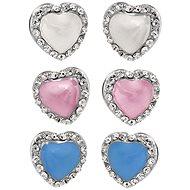 JSB Bijoux Souprava náušniček Hearts s křišťálovými kameny Swarovski®