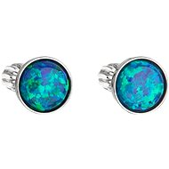 EVOLUTION GROUP 11001.3 Studs with Synthetic Opal, Swarovski® (925/1000, 1g, Green)