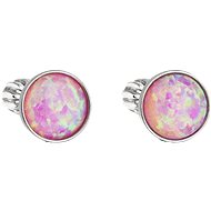 EVOLUTION GROUP 11001.3 Studs with Synthetic Opal, Swarovski® (925/1000, 1g, Light Pink)
