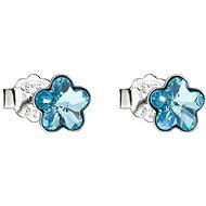 EVOLUTION GROUP 31080.3 aqua náušnice dekorované krystaly Swarovski® (925/1000, 0,7 g) - Náušnice
