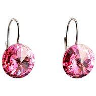 EVOLUTION GROUP 31106.3 visací kulaté dekorované krystaly Swarovski® (925/1000, 2 g, růžové)
