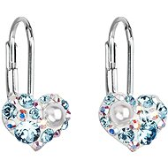 EVOLUTION GROUP 31125.9 Pendant Heart Decorated with Swarovski® Crystals (925/1000, 1g, Blue) - Earrings