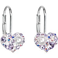EVOLUTION GROUP 31125.9 visací srdce dekorované krystaly Swarovski® (Ag925/1000, 1 g, fialové)