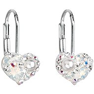 EVOLUTION GROUP 31125.9 Pendant Heart Decorated with Swarovski® Crystals (925/1000, 1g, White) - Earrings