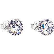 EVOLUTION GROUP 31136.3 violet náušnice dekorované krystaly Swarovski® (925/1000, 1 g) - Náušnice