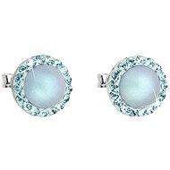 EVOLUTION GROUP 31214.3 světle modrá náušnice dekorované krystaly  a perlou Swarovski® (925/1000, 1