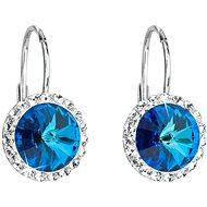 EVOLUTION GROUP 31216.5 visací kulaté bermuda blue dekorované krystaly Swarovski® (925/1000, 1 g, mo - Náušnice