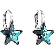 EVOLUTION GROUP 31227.5 visací hvězdička bermuda blue dekorované krystaly Swarovski® (925/1000, 1,4  - Náušnice