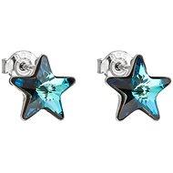 EVOLUTION GROUP 31228.5 bermuda blue náušnice dekorované krystaly Swarovski® (925/1000, 1,4 g) - Náušnice